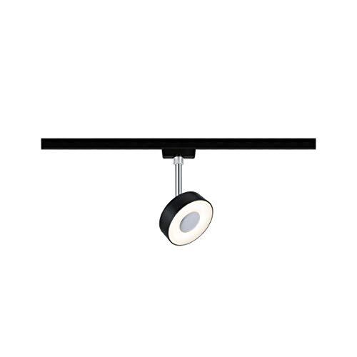Paulmann 969.15 URail LED-Spot Circle 5W Schwarz matt 2700K Metall/Kunststoff dimmbar