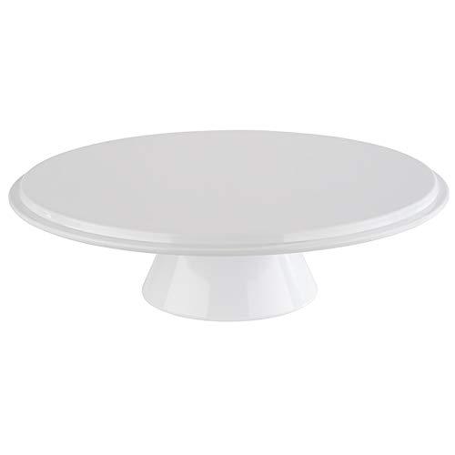 """APS Servier- und Tortenplatte """"Classic"""", Kuchenplatte, Tortenplatte aus Melamin, mit Randfixierung für Haube, Ø 30,5 x Höhe 9 cm, weiß"""