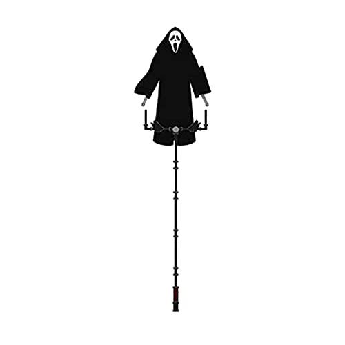 WOTEG Halloween Ghostface Scream Scarecrow Gartendekoration, Riesige Vogelscheuche Deko für Scream Scare Crow, Beängstigend Hängende Ghostface Vogelscheuche Dekor für Garten, Hof und Baum, 70x40 cm
