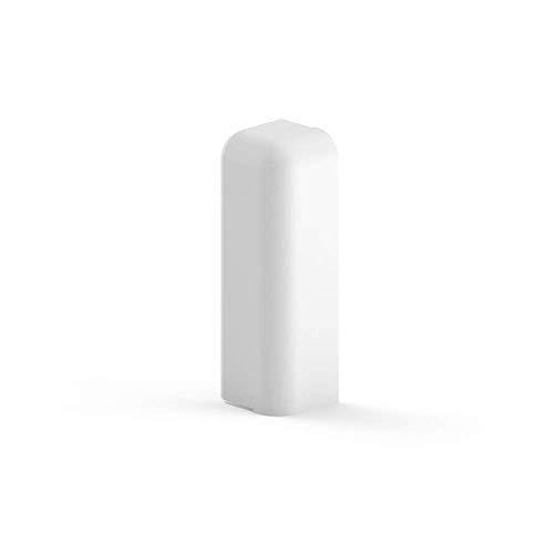 Habengut Endkappe Ausführung rechts für Sockelleiste 70 mm aus PVC, Farbe: Weiß | Inhalt: 1 Stück - für einen sauberen Abschluss