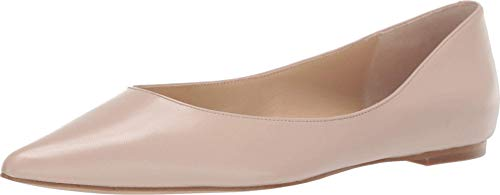 botkier Womens Annika Pointed Toe Flat, Almond, 9