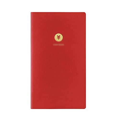 zanzan Personalisierbare Notizbücher, tragbares Notizbuch, Multifunktionstagebuch, kleines kreatives persönliches Notizbuch, Familienbuchhaltungsbuch (96 Blatt), Notizbücher (Farbe: Rot)