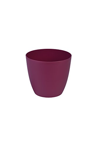 Plastkon Décoration Pot Ella Mat Diamètre : 25 cm, Rouge