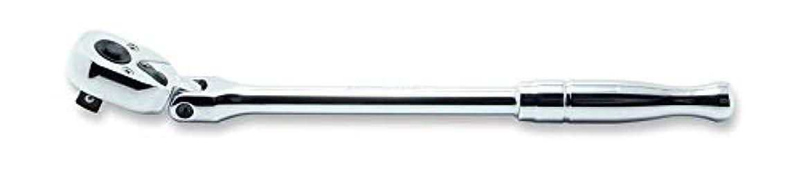 支店エントリ堤防コーケン 3/8(9.5mm)SQ. プッシュボタン式首振りラチェットハンドル(ポリッシュグリップ) 全長265mm 3774PB