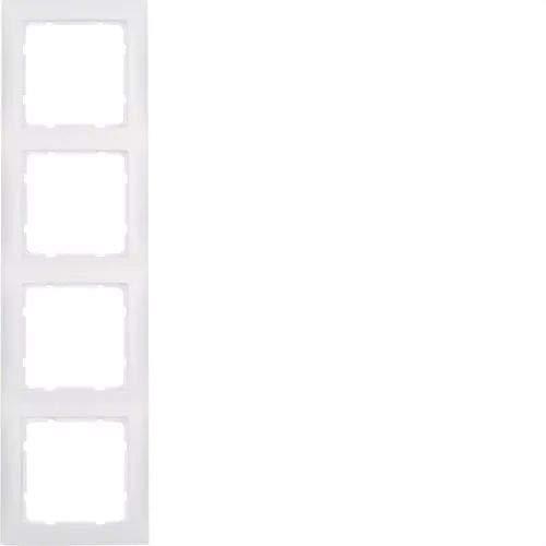 Hager S1 BERK Rahmen 10149909 4fach polarweiss matt