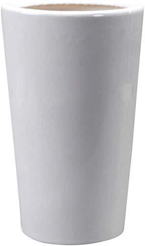 Zylinder Flowerpot Keramik Grün Rettich Pflanze Stehen Keramik Blumentöpfe for Outdoor Indoor (Größe: Übergröße) Pflanzkübel-Keramik, geeignet für Schlafzimmer Off (Size : XL)