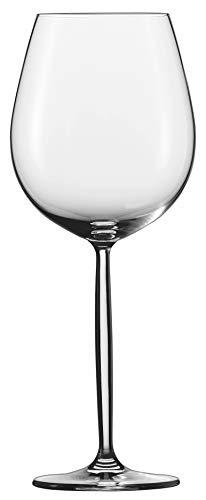 Schott Zwiesel Diva 6-teiliges Burgunder Rotweinglas Set Wijnglas, Kristalglas met Tritan beschermlaag, Transparente, 9.1 cm, 6-Einheiten
