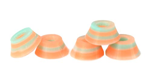 Teak Tuning Bubble Bushings, Professional Shaped Fingerboard Tuning, Teal/Orange Signature Swirl, Pack of 5