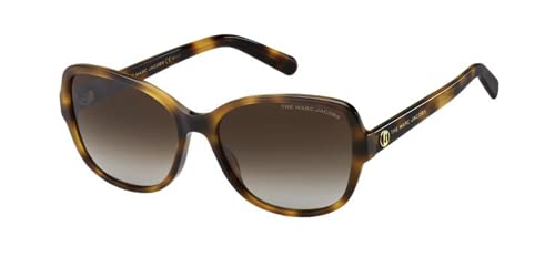 Marc Jacobs 528/S Gafas de sol - Havana Gold Brown Gradient Polz Cat Eye 58mm Nuevo y Auténtico