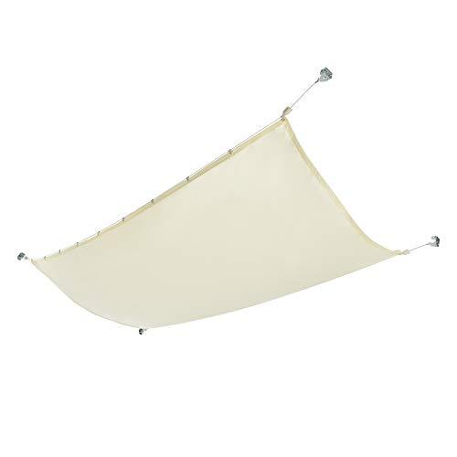[en.casa] Seilspannmarkise Sonnensegel Wasserabweisende Beschichtung Beschattung Sichtschutz 140x420 cm Beige