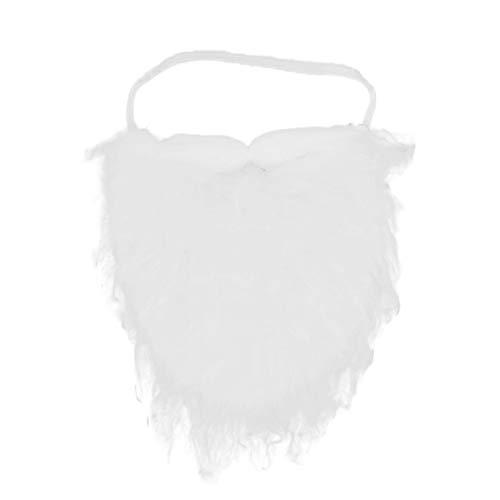 Jacobson Hat Company White Full Beard and Mustache Costume Accessory, Medium