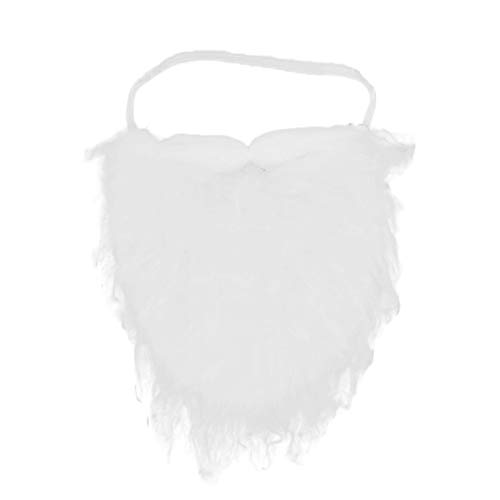 Jacobson Hat Company White Full Beard and Mustache Costume Accessory, Medium