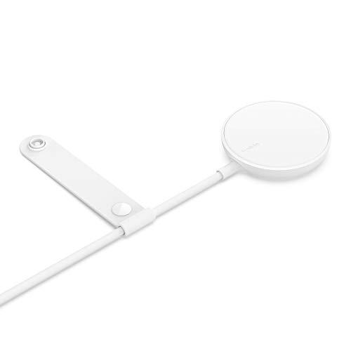 Belkin - Cargador Inalámbrico Compatible con MagSafe, Adaptador de Corriente de 18 W Incluido con Cable de 2 m para la Serie iPhone 12 y Otros Dispositivos Compatibles con MagSafe, Blanco