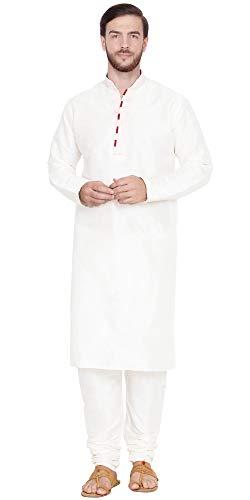 SKAVIJ Seda Boda Kurta Pijama (Camisa Larga y Pantalón) para Hombre