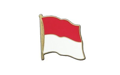 Indonesien Flaggen Pin, indonesische Fahne 2x2cm, MaxFlags®
