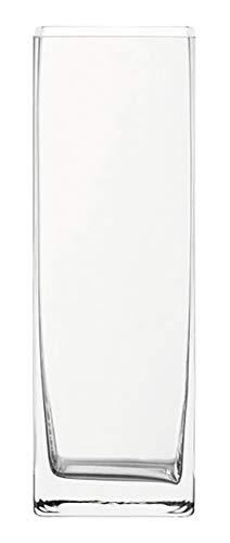Leonardo Column Kastenvase, B/H/T: 10,5/30/10,5 cm, handgefertigtes Klarglas, 014137