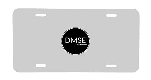DMSE Wholesale Blank Metal Aluminium Automotive License Plate Plates Tag for Custom Design Work - 0.025 Thickness/0.5mm - US/Canada Size 12x6 Made in USA (White, 1 Plate)