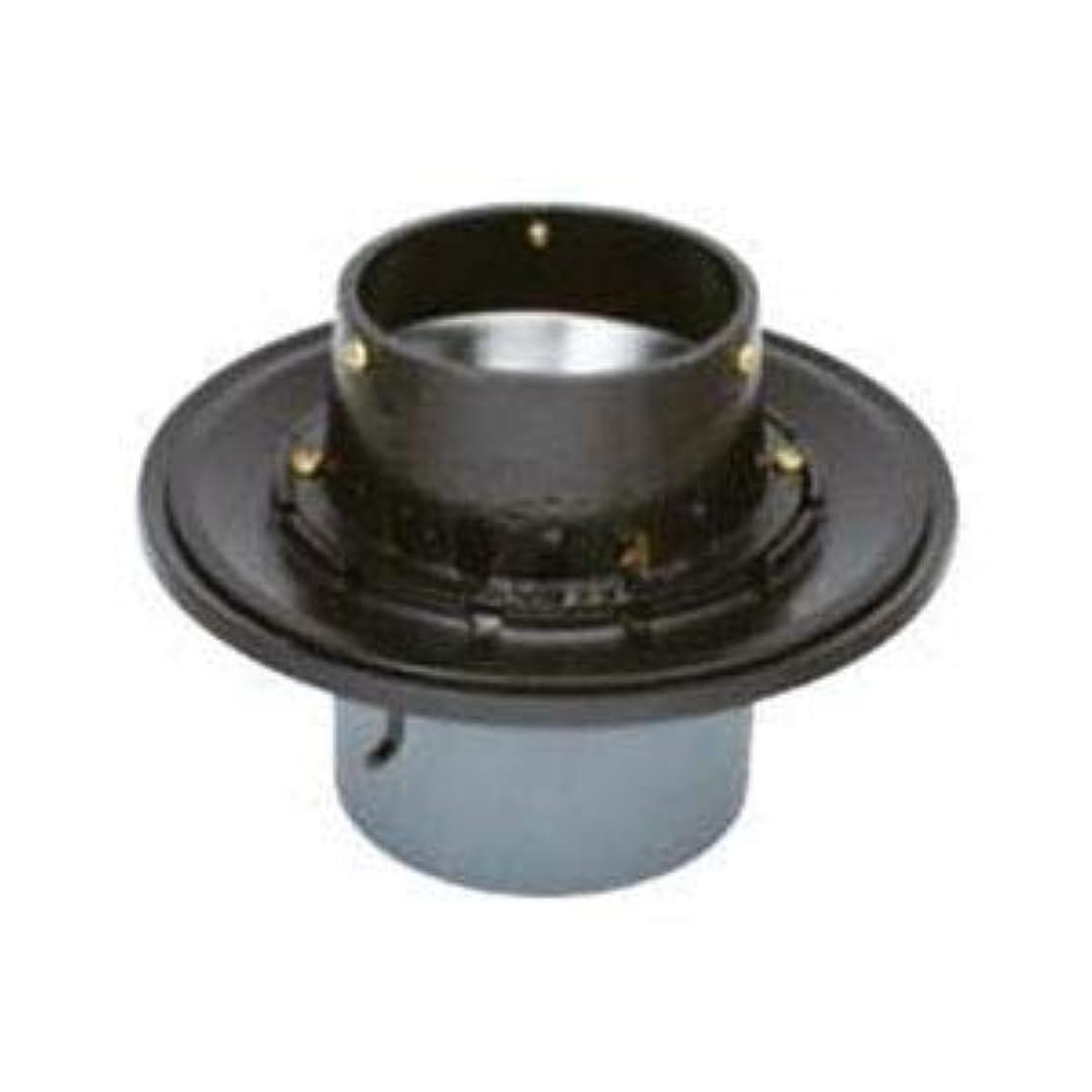 なかなか評価可能訪問カネソウ 鋳鉄製ルーフドレイン たて引き用 打込型 バルコニー中継用 水はね防止型(呼称100) WSJ-1-100