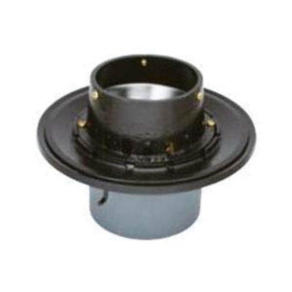 騒乱折る対称カネソウ 鋳鉄製ルーフドレイン たて引き用 打込型 バルコニー中継用 水はね防止型(呼称100) WSJ-1-100