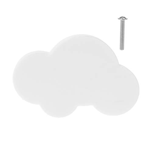 Vivitoch - Tirador anticolisión para puerta de armario, cajón, muebles, mangos de dibujos animados, diseño de estrella, luna y nube 6