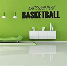 Vivityobert Calcomanías de pared inspiradoras con citas inspiradoras para comer, dormir, jugar baloncesto para sala de estar, dormitorio, dormitorio de niños