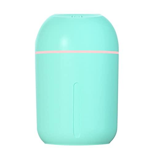 jwj Mejor humidificador humidificador 330 ml de capacidad USB humidificador de aire aroma difusor de aceite esencial lámpara purificador de aire Fogger humidificadores aceites esenciales (color verde)