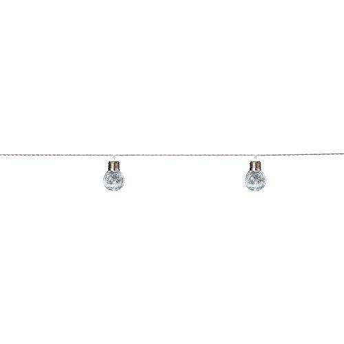 Hampton Bay 10-Light 12 ft. Integrated LED Clear Crackle Glass Ball String Light Set