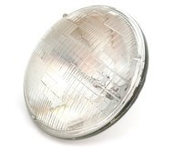7' Sealed Beam Motorcycle Headlight - Clear - Vintage Cafe Racer...