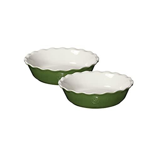 Emile Henry 629522 Set of 2 Pie Dish Mini-Kuchenform, Keramik, Frühling