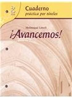 Avancemos! Level 2: Cuaderno Practica Por Niveles (Spanish Edition) Pap/Unbnd Edition by (NA), Not Available published by Mcdougal Littell/Houghton Mifflin Paperback