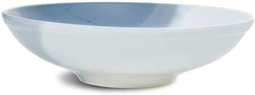 ZHEYANG Platos Llanos Platos Hondos Ronda tazón Tazón de cerámica Ramen Soup Bowl Tazón Pasta Bowl Redonda Recipiente Hondo Plato de Fruta Ensaladera Bol Vajilla (Talla : Grande)