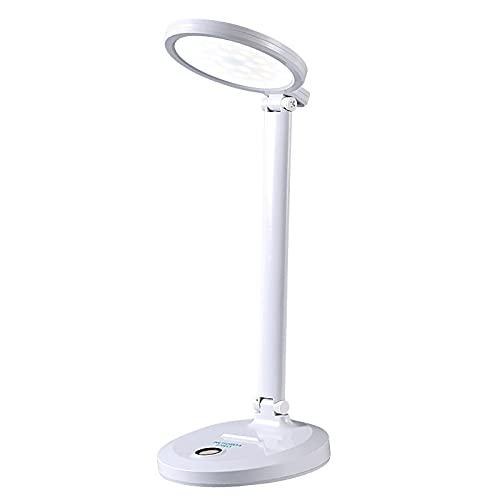 WDXJC Lámpara de Escritorio LED de Abrazadera/Lectura/Luz de Estudio de fácil Lectura/Regulación Continua con Puerto USB Lectura de Trabajo de Estudio Luz de Libro sin Enchufe Plegable de estudi
