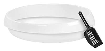 IRIS Large Rimmed Litter Pan, White