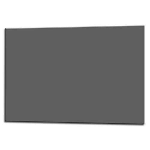 Glas Expert Küchenrückwand | 75 x 60 cm | Grau | EVOKERAM Glass ® | Deko Spritzschutz Rückwand für Küche, Herd, Fliesen, inkl. Befestigungsmaterial