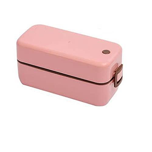 Kfhfhsdgsafh Fiambreras bento, Caja de Almuerzo de plástico para Hombres para Hombres, Sellado y extracción de Fugas, Apto para Oficina de Oficina, etc, tamaño: 18.5 * 8 * 8.6 cm (Color : Pink)