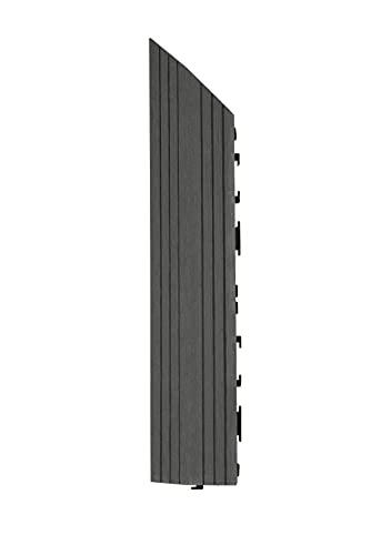 Decko - Azulejos de madera compuesta (37 x 7 cm), color gris
