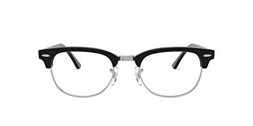 Katy Perry Gafas de diseador accesorio de moda medio borde marco negro/plateado transparente lentes retro y funda