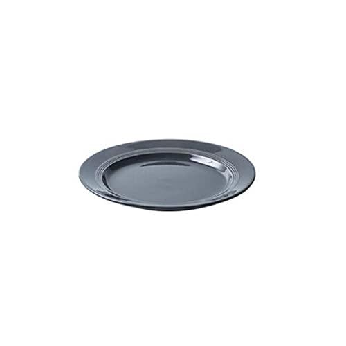 Hanpiyigcp Platos, Placa de cerámica de Forma Simple, se Puede Utilizar para Colocar Verduras, Frutas, Pasta, Pollo asado (Color : Black, Size : S)