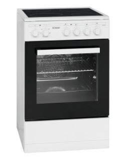 Bomann EHC 3557 Stand-Ceran-Elektroherd, EEK A, 0,77 kWh, 4 Highlight Kochzonen, Grill, Umluft/Heißluft