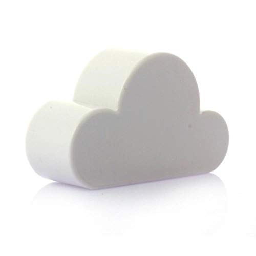 PLXX Diseño Simple de la Nube de Dibujos Animados Gancho de Pared magnético Fuerte Llavero magnético Llavero de Gancho para la decoración del hogar Nube, Blanco