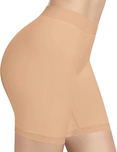Mazu Homee Petticoat - Pantaloncini da donna, comodi, senza cuciture, beige, m