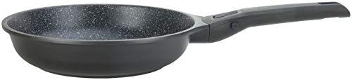 GSW 167802 Bratpfanne Easy Click 28cm mit abnehmbarem Griff, Aluminium, Kunststoff, schwarz