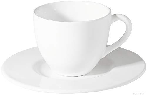 ASA Tasse mit Unterer, Keramik, weiß, 0,5l