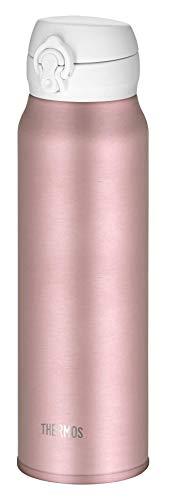 THERMOS 4035.284.075 Thermosflasche Ultralight, Edelstahl Mat Rosé Gold 0,75 l, extrem leicht, nur 275 g, 10 Stunden heiß, 20 Stunden kalt