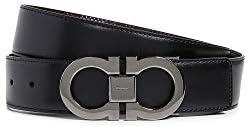 Salvatore Ferragamo Men's Gancini Buckle Reversible Belt