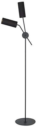 Homemania HOMAX_4535 - Lámpara de suelo Columbaper para interiores, suelo negro, de metal, tejido, 47 x 30 x 171 cm