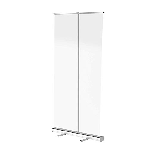 VULID Clear Standing Protection Divider Screen, Social Distancing Screen With Easy To Install For Office Shop Hairdresser (Size : 80 * 180cm)