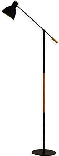 Lampada da Terra, palo Luminoso Nero, Regolabile, Ferro battuto, Vernice Opaca, Decorazione per la Cura degli Occhi, Lampada da Terra a LED, 172 cm, per Soggiorno, Ufficio e dormitorio