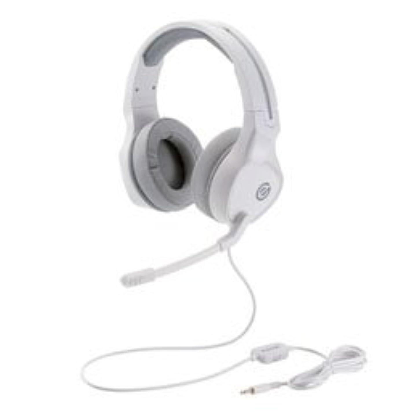 批判的に費用医師(4個まとめ売り) エレコム ゲーミングヘッドセット 両耳オーバーヘッド 4極ミニプラグ 50mmドライバ 極厚イヤーパッド コントローラ付属 ホワイト HS-G01WH