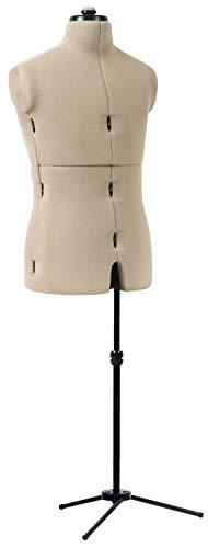 Dritz Mr. Tailor Adjustable Dress Form, Male, Black